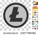 litecoin coin pictograph with...