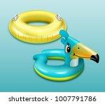 Vector Illustration Of Swim...