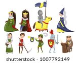 medieval people set  characters ... | Shutterstock .eps vector #1007792149