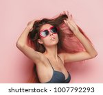 the face of a beautiful young... | Shutterstock . vector #1007792293