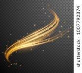 gold  glitter wave. sparkle...   Shutterstock .eps vector #1007792374