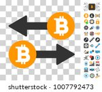 bitcoin exchange icon with...