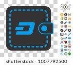 dashcoin wallet icon with bonus ...