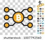 bitcoin node links pictograph... | Shutterstock .eps vector #1007792560