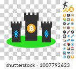 bitcoin citadel icon with bonus ... | Shutterstock .eps vector #1007792623