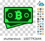 bitcoin banknotes pictograph...