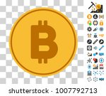 bitcoin coin icon with bonus...