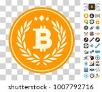 bitcoin coin pictograph with...