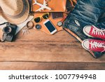 travel accessories costumes....   Shutterstock . vector #1007794948