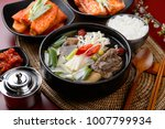 delicious short rib soup in a... | Shutterstock . vector #1007799934