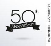 50 years anniversary logo with... | Shutterstock .eps vector #1007805499