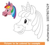 page to be colored. cute... | Shutterstock .eps vector #1007807629