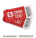 two cinema vector tickets... | Shutterstock .eps vector #1007810134