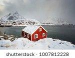 rorbu huts  svolv r  lofoten ...   Shutterstock . vector #1007812228