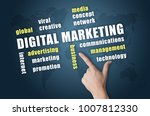 digital marketing wordlcloud on ... | Shutterstock . vector #1007812330