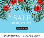 sale banner  poster. beautiful ... | Shutterstock .eps vector #1007812594