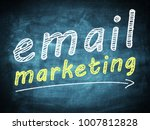 email marketing text concept on ... | Shutterstock . vector #1007812828