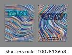 minimal covers design. bright... | Shutterstock .eps vector #1007813653