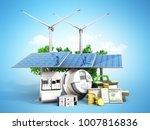 Concept Of Energy Saving Solar...