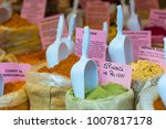 spices powder in an outdoor... | Shutterstock . vector #1007817178