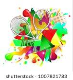 abstract sport tennis racket...   Shutterstock .eps vector #1007821783