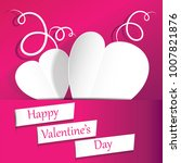 happy valentine's day with... | Shutterstock .eps vector #1007821876