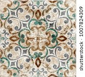 Stock photo vintage italian tile with moroccan pattern 1007824309