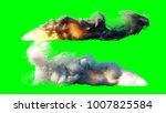launch rocket isolate. green... | Shutterstock . vector #1007825584
