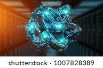 futuristic torus technology...   Shutterstock . vector #1007828389