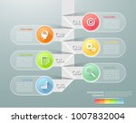 design infographic template 6... | Shutterstock .eps vector #1007832004