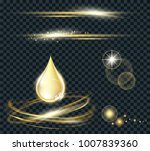 vector circle light effect with ... | Shutterstock .eps vector #1007839360