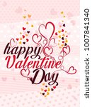 happy valentines day typography ... | Shutterstock .eps vector #1007841340