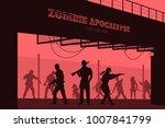 poster zombie apocalypse.... | Shutterstock .eps vector #1007841799