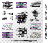 set of elements abstract... | Shutterstock .eps vector #1007842324