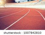 red running track lines in... | Shutterstock . vector #1007842810