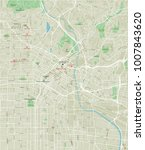 vector city map of los angeles... | Shutterstock .eps vector #1007843620