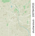 vector city map of los angeles... | Shutterstock .eps vector #1007843920