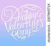 vector happy valentines day... | Shutterstock .eps vector #1007845714