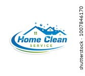 home clean service logo icon... | Shutterstock .eps vector #1007846170