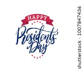 happy presidents' day... | Shutterstock .eps vector #1007847436