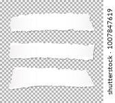set of realistic vector torn... | Shutterstock .eps vector #1007847619