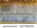 Small photo of old bamboo wall of farmer hut pallid color
