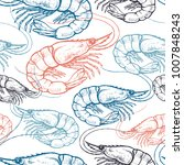 seamless vector pattern with... | Shutterstock .eps vector #1007848243