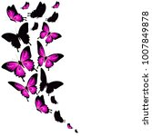 beautiful pink butterflies ... | Shutterstock . vector #1007849878