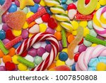 multicolored candy and... | Shutterstock . vector #1007850808