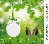 easter egg price sticker with...   Shutterstock .eps vector #1007853256