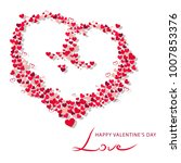 happy valentine's day | Shutterstock .eps vector #1007853376