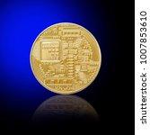 golden bitcoins. new virtual...   Shutterstock . vector #1007853610