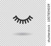 vector eyelash. lash icon.... | Shutterstock .eps vector #1007854039