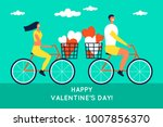 happy valentines day. enamored... | Shutterstock .eps vector #1007856370